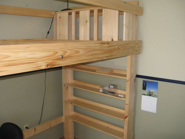 DIY instructions for Loft Bed, like the idea of making rails mini ...