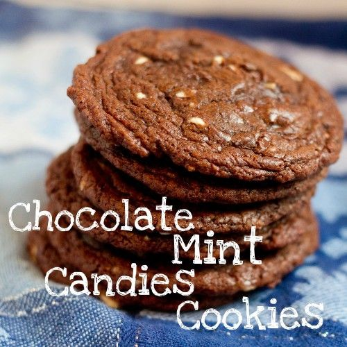 Chocolate Mint Candies Cookies - We used one 4 oz. box of Andes mints ...