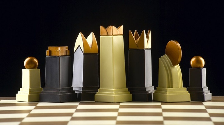 Art Deco Themed Chess Set Chess Pinterest