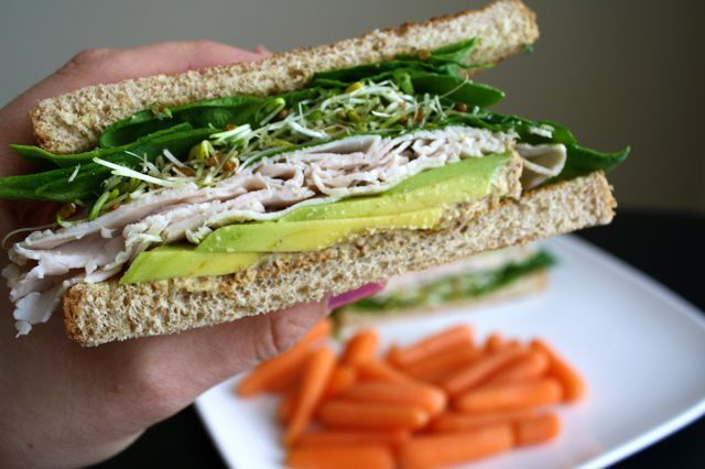 avocado sprout and cashew spread sandwich avocado and sprout sandwich ...