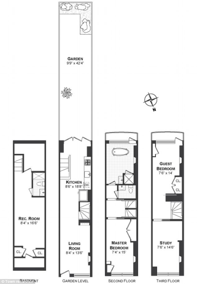 New York 39 S Narrowest House Once Owned By Actor Carey