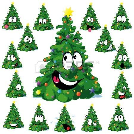 Christmas tree cartoon with star scrapbooking ideas art need to se