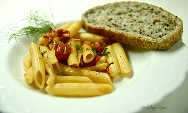 Roasted fennel and tomato pasta! | Healthy and delicious! | Pinterest