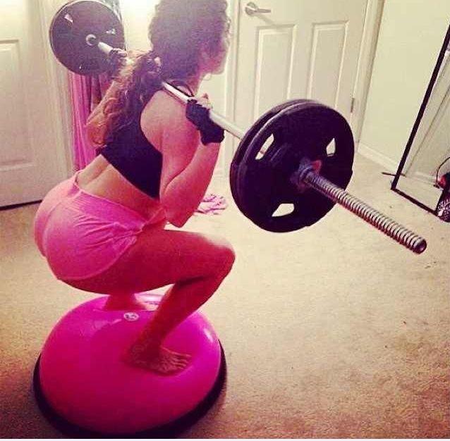 Bosu Squats | fitness | Pinterest