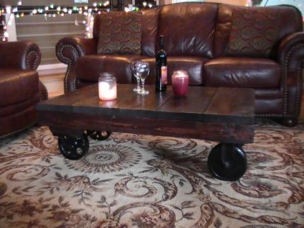 Warehouse Industrial Cart Coffee Table