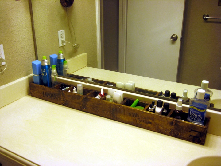 counter storage caddy for small bathrooms love
