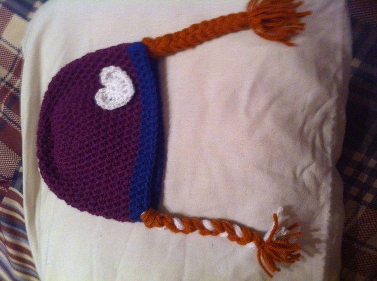 Anna frozen crochet hat crochet girl Pinterest