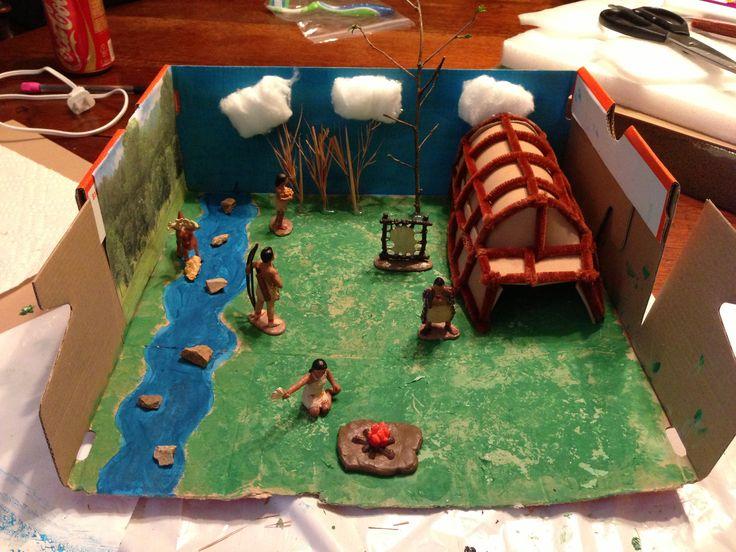 Iroquois diarama 4th grader kids stuff pinterest