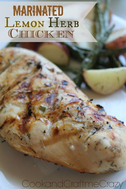 Marinated Lemon Herb Chicken. 5 minutes before the chicken was cooked ...