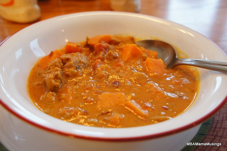 African Peanut Soup! Easy and Unique, a delicious one dish meal.