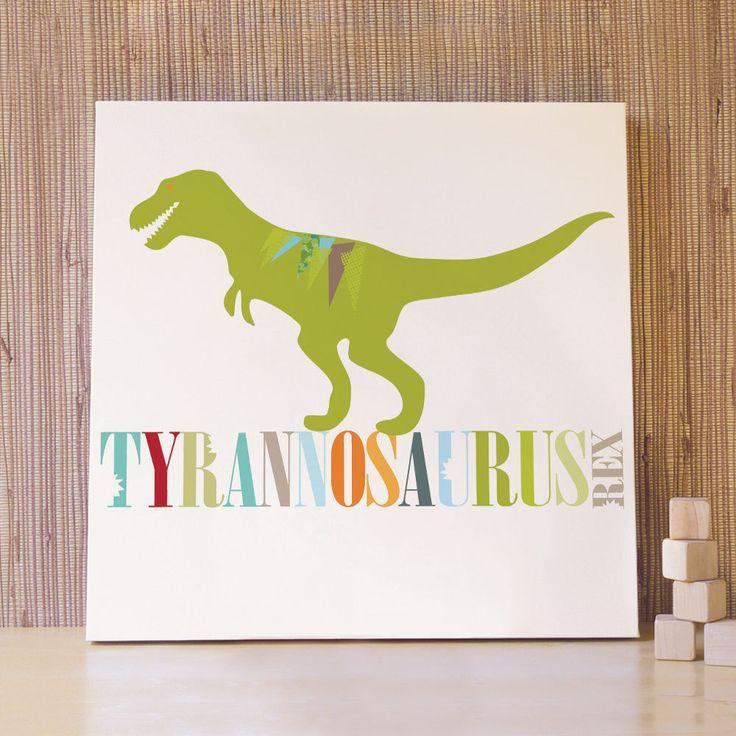 Dinosaur art decor for kids rooms 20x20 t rex canvas for Dinosaur pictures for kids room