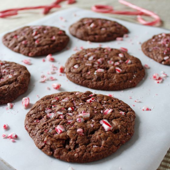 Double Chocolate Chip Candy Cane Cookie | Sweet Treats | Pinterest