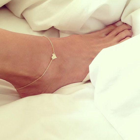 Super Sweet Anklet,  Heart Anklet,  Gold Heart Anklet. Want it
