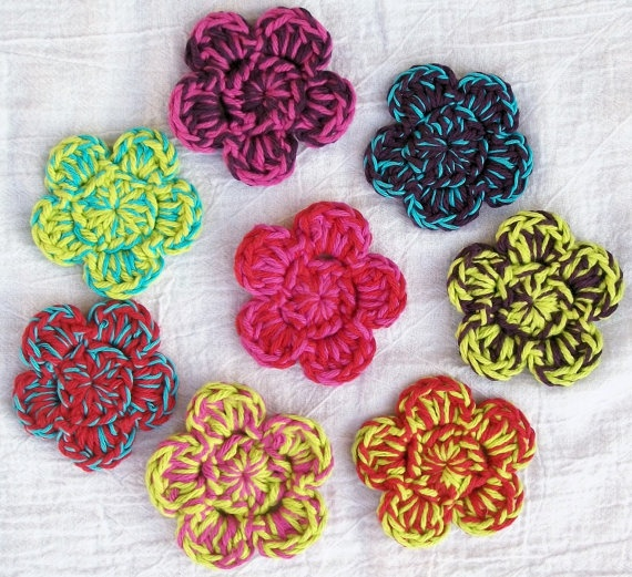 Crochet hair clips Crochet Accessories Pinterest