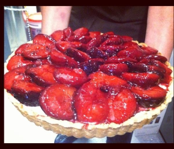 Chef Sue's Plum Tart with Mascarpone Cheese at Tender Greens La Jolla ...