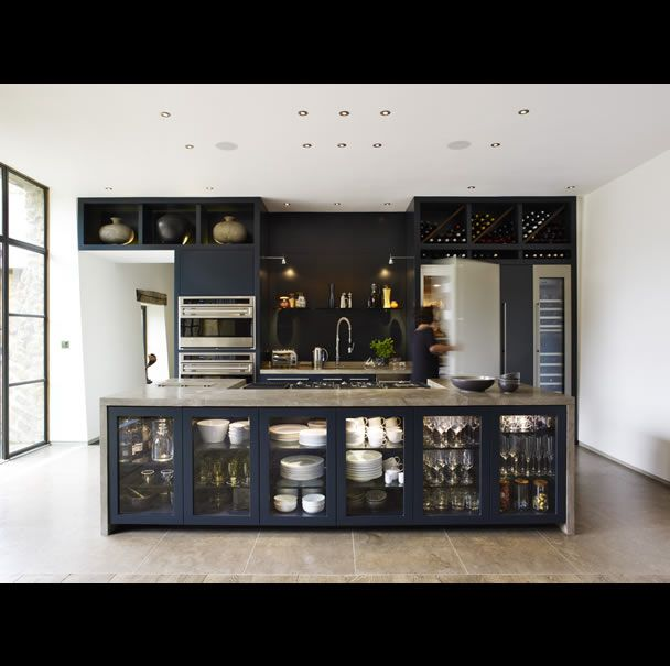 Navy Cabinets  Home  Pinterest