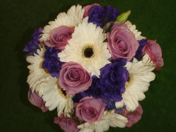 Hand tied in shades of lavender and purple