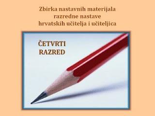 nastavni materijali za 4. raz. OŠ (hrvatski jezik)