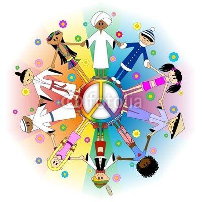 #Children #Kids around the #World on #Peace-#Vector © #Bluedarkat - on #Fotolia!