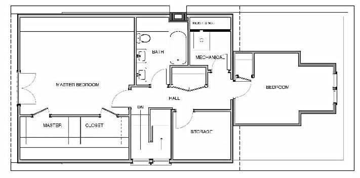 Pin by brooke on attic conversion to master suite pinterest for Chicago style bungalow floor plans