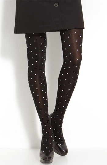 kate spade scattered dot tights