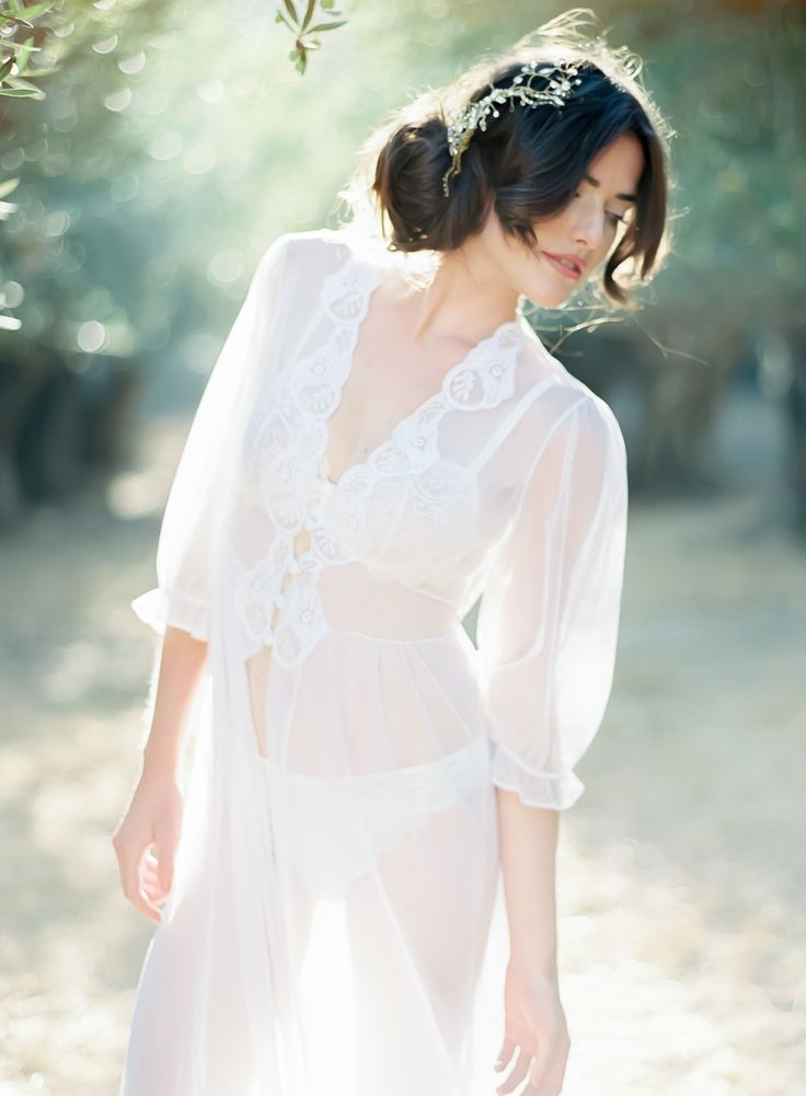 Boudoir Photo Shoot on SMP Weddings - Coco Tran Photography | #lingerie #robe | See More here: http://www.styleMePretty.com/california-weddings/2014/01/06/french-bridal-boudoir/