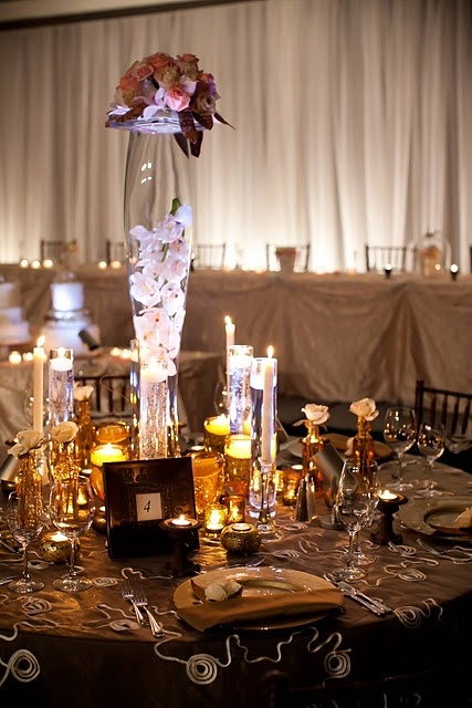 #Glam #decor - - For an indoor wedding reception maybe?