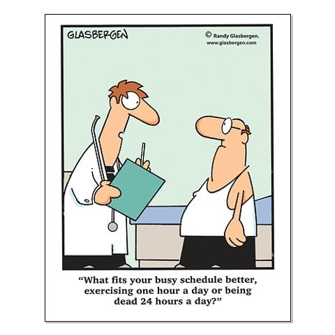 Great cartoon about the importance of exercise..