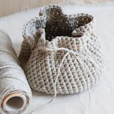 Crochet Patterns Linen Yarn : Valley Yarns 595 Crocheted Linen Basket Crochet Patterns Pinterest