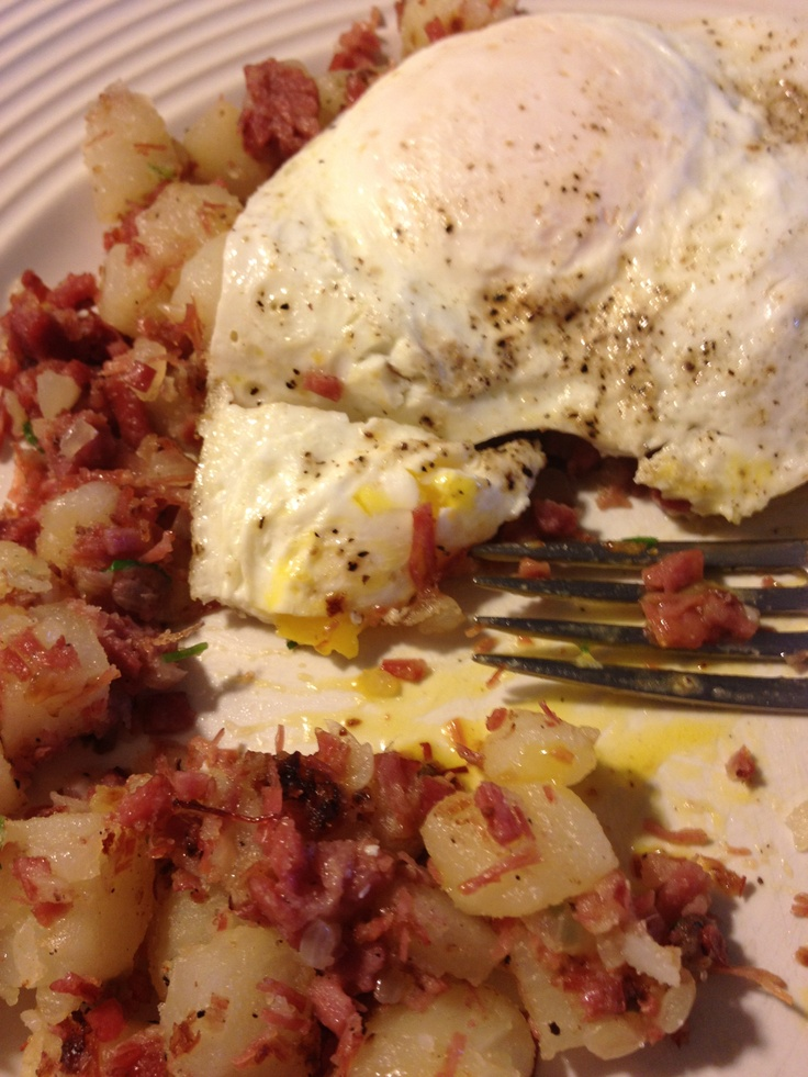 Love my homemade corned beef hash! YUM! | My Delicious Creations | Pi ...