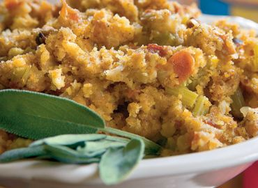 Cornbread, Bacon, Leek, And Pecan Stuffing Recipe — Dishmaps