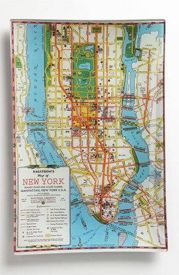 Ben's Garden 'Hagstrom's New York' Decorative Glass Tray | Nordstrom  ...