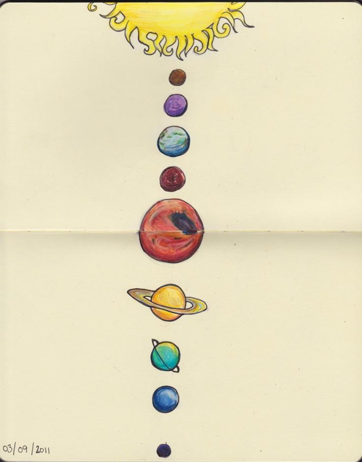 minimalist solar system drawing - photo #15