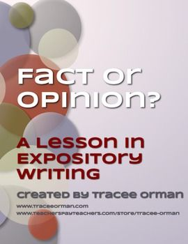 """... Fact or Opinion?"""" activity & lesson to help them practice identifying"""