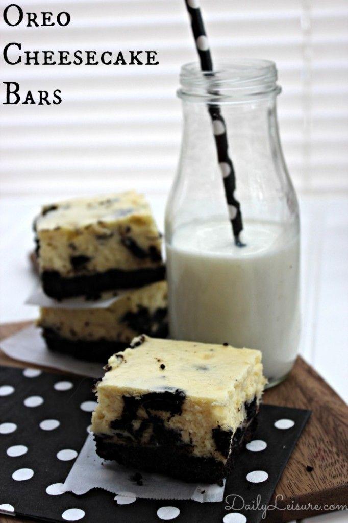 Oreo Cheesecake Bars - Daily Leisure