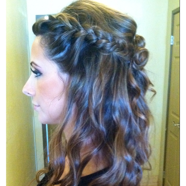 Side braid with beach curls   And I thought I loved you then