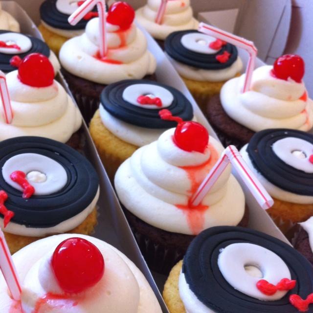50s soda shoppe cupcakes event ideas pinterest