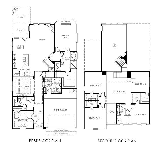 Meritage vintage floor plan