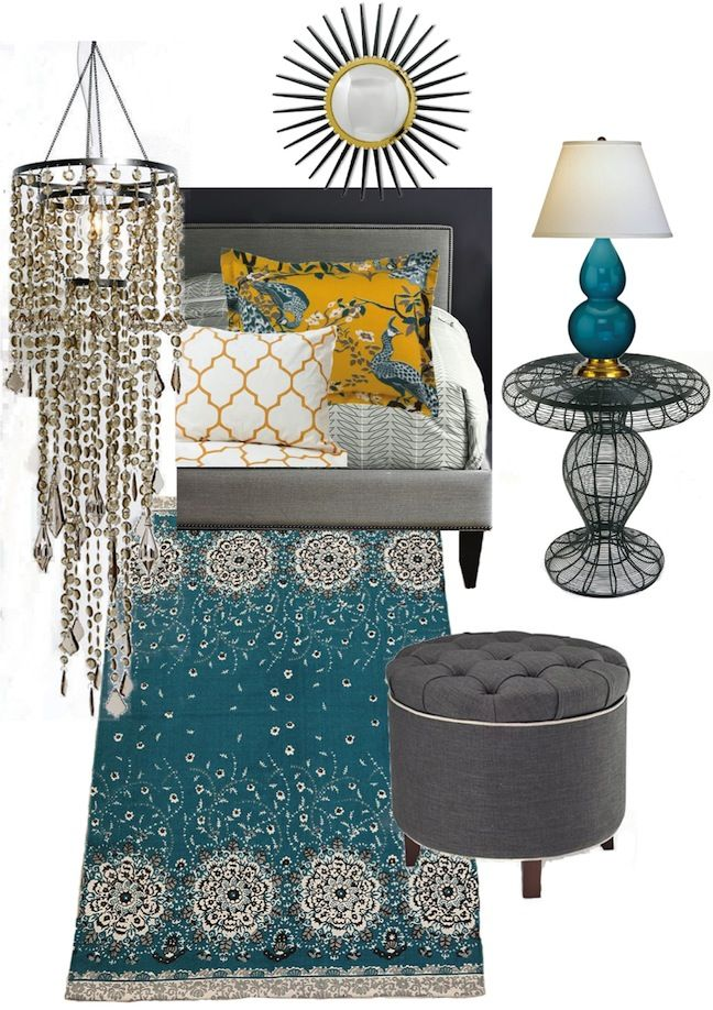 peacock and butternut bedroom mood board dream home decor pintere