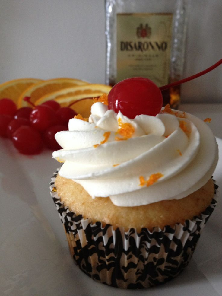 Amaretto Sour cupcake | My Eats | Pinterest