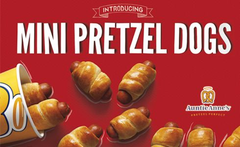 Mini Pretzel Dogs | American food | Pinterest