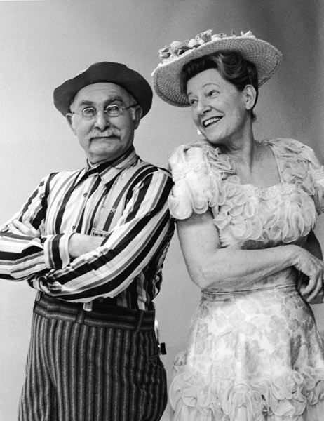 """Grandpa Jones (and Minnie Pearl) (October 20, 1913-1998) – Banjo player and """"old time"""" country and gospel music singer. Cast member of the TV show Hee Haw. Inducted into the Country Music Hall of Fame, 1978. Born in Niagra, KY, died in Nashville, Tennessee."""