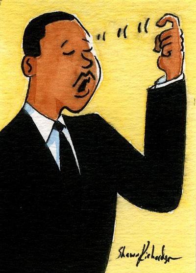 "SRID: ""Deaf"" MLK Dream sign."