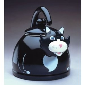 Black Cat Teapot And Cup