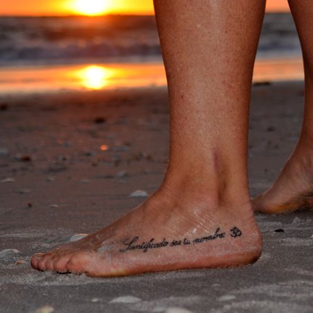 Jacquelyn Schirmer merges her religious and yogic beliefs. Tattoo ...