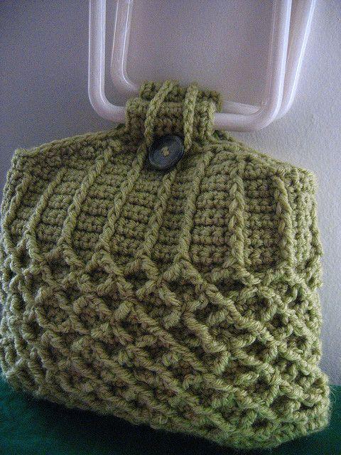 Honeycomb Fake Knit Purse-Free crochet pattern via ravelry ...