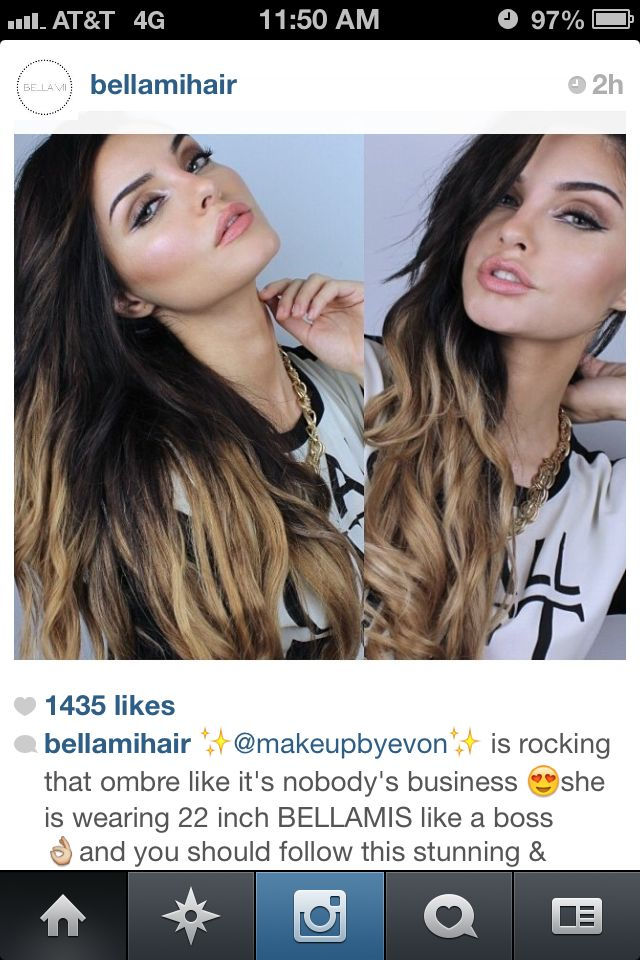 Bellami Hair Extensions Ombre 101