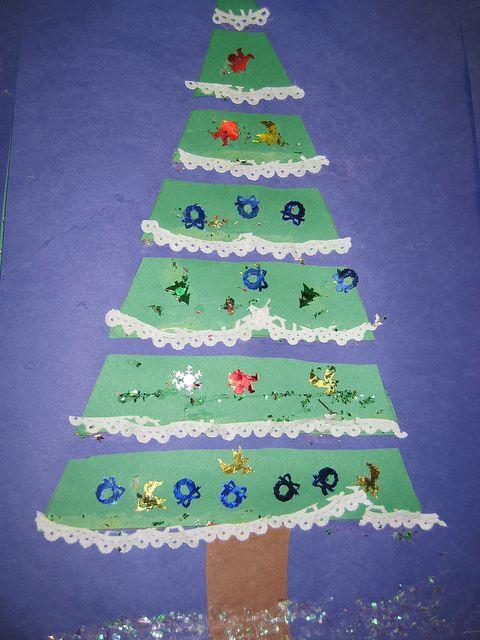Christmas Tree Crafts Kindergarten : Christmas tree craft for kindergarten classroom ideas