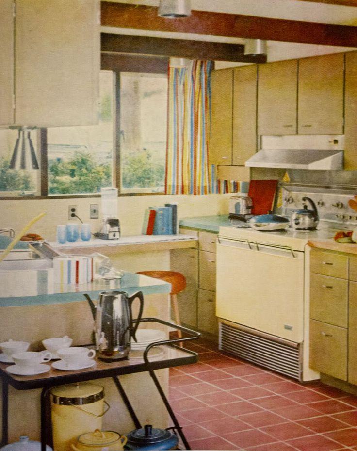 Mid Century Modern Kitchen For The Home Pinterest
