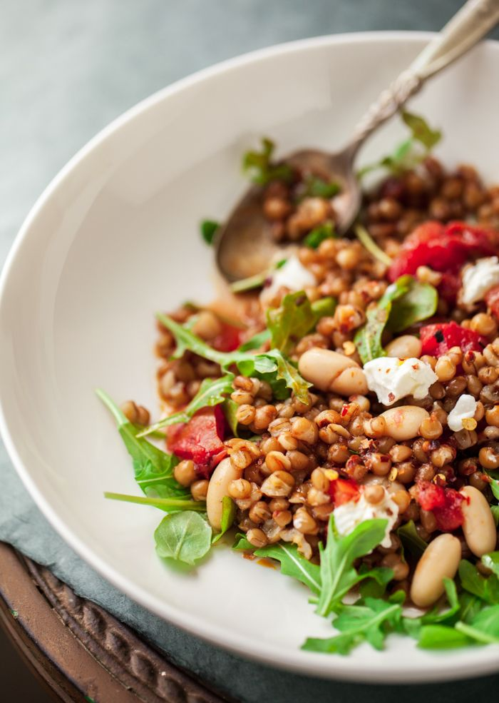 Wheat Berries with Tomato, Arugula, & Ricotta | Familystyle Food